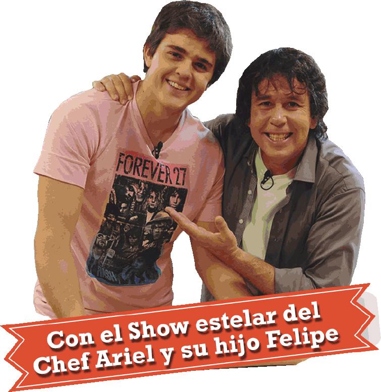 Ariel y su hijo Felipe.